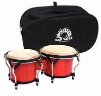 "CLUB SALSA bongo 6½""+7½"" + bag - Red"