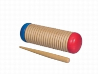 SONORUS guiro shaker, wood, oval model, small, with pua