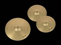 "CRUZ metal cymbals set, 14"" hihats and 18"" crash/ride"
