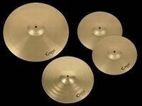 "CRUZ metal cymbals set, 14"" hihats, 16"" crash and 20"" ride"