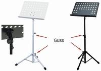 GEWA Music stand 48x35 - Diecast connection - black