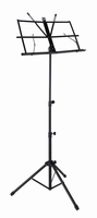 BOSTON Foldable music stand black with bag - extra high