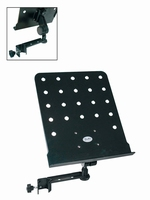 BOSTON Clip-on music stand, black, perforated desk