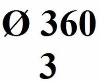 Drumhead No logo 360mm - 180mµ (3)
