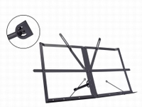 BOSTON Table top music stand black