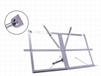BOSTON Table top music stand silver